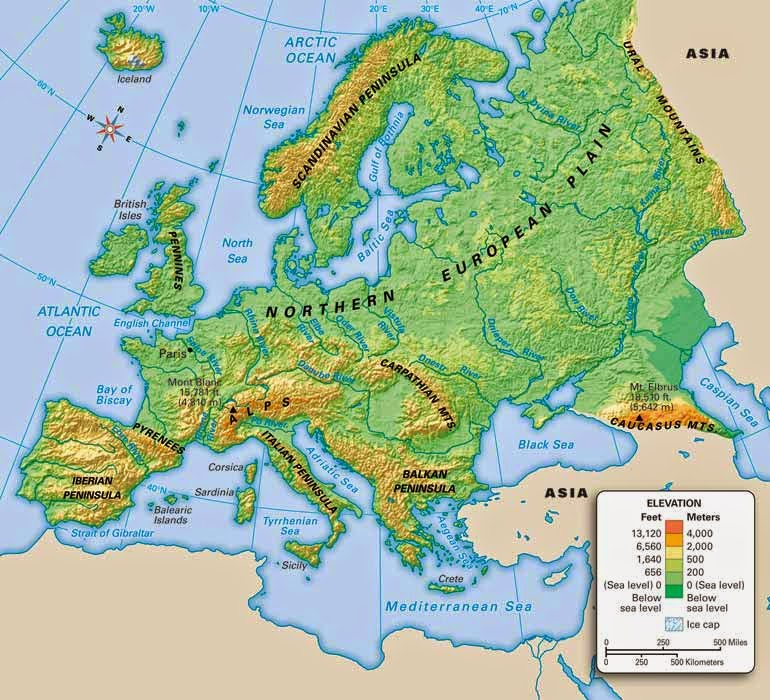 Map Skills and European Geography - History Makes Men Wise